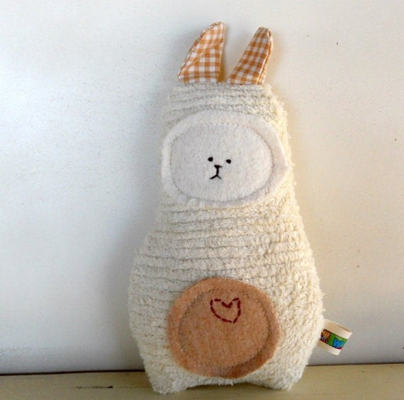 Eco Kids Toy Soft Bunny Rabbit Doll  Plush Natural Eco-Friendly Baby Shower Toy Waldorf