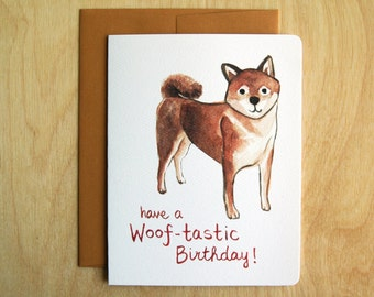 Woof-tastic Birthday Card // Perfect a Dog Lover's Birthday