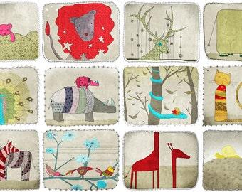 Animals - Any 4  prints