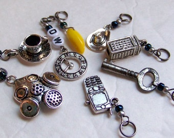 Hand Made Stitch Markers  --  Doctor Who