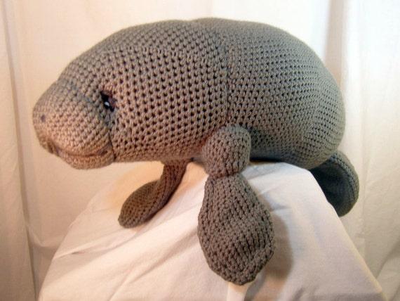 Amigurumi Manatee : Manatee Amigurumi Stuffed Toy Plush Crochet Pattern