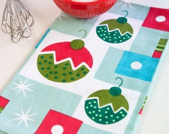 Retro Inspired Holiday Tea Towel - Balls of Jolly