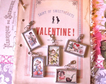Charms Supplies for Necklaces, Bracelets Valentine Romance Style Silvertone Lobster Claw Findings