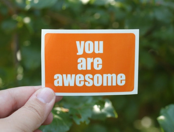 you are awesome . a sticker set