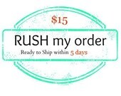 Rush order fee - for orders that need to be RECEIVED within 7 days