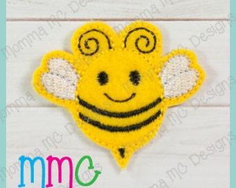 Bumble Bee Felt Feltie Embroidery Design