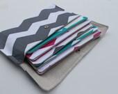 SALE Cash budget wallet - Chevron 6 envelopes