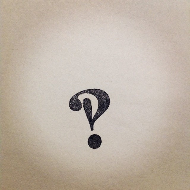 interrobang rubber stamp question mark and exclamation point