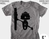Fishing Shirt, Boys Fishing Shirt, Fishing Gift, Girls Fishing Shirt, Boys Clothing, Girls Clothing, Baby Clothing, Baby Fishing Shirt, Reel