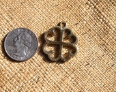 Brass Adinkra NYAME DUA Tree of God Charm 25mm