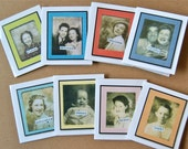 Vintage Photo Booth Gift Cards #2 - Set of 8 - Digital File - Print at Home - DIY - Birthday - All Occasion