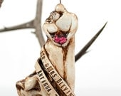 Newlywed's Wedding Personalized White Christmas Ornament