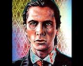 "Print 8x10"" - Patrick Bateman - American Psycho Serial Killer 80s Halloween Gothic Blood Wall Street Death Horror Christian Bale Pop Art"