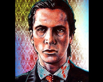 "Print 8x10"" - Patrick Bateman - American Psycho Serial Killer 80s Halloween Gothic Blood Wall Street Death Horror Christian Bale Pop Art"