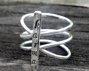 Sterling Karma Ring by donnaodesigns