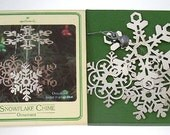 1980 Hallmark Snowflake Chime Ornament Silver NIB