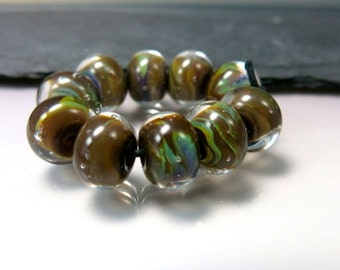 Handmade Lampwork Beads by GlassBeadArt  ... Fall Symphony 2 ... SRA F12