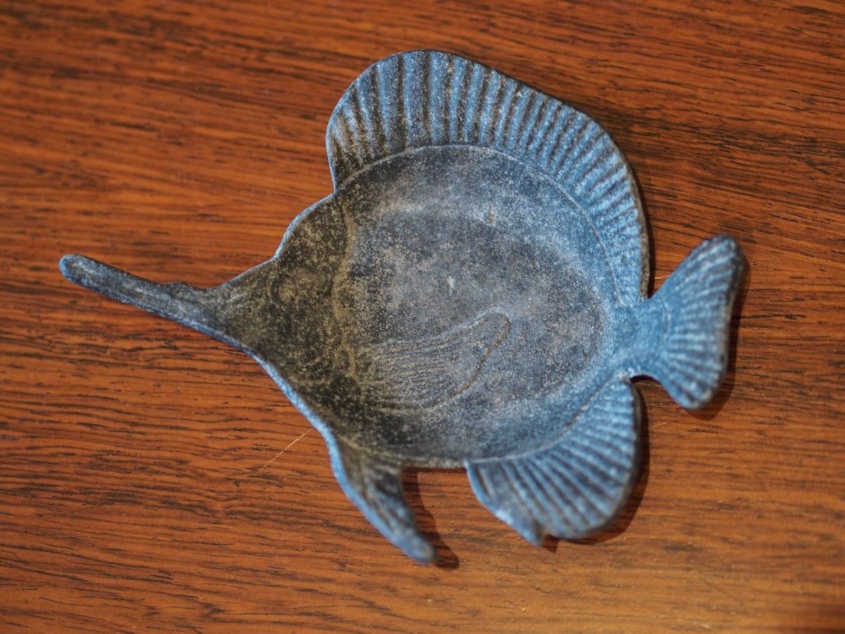 Vintage cast iron fish dish japan by fishparade on etsy for Cast iron fish