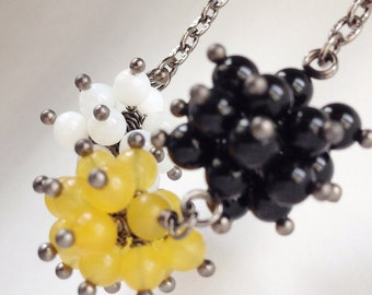Triple Globe Cluster Necklace