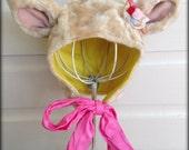 Little Kittie Cap with Silken Bow