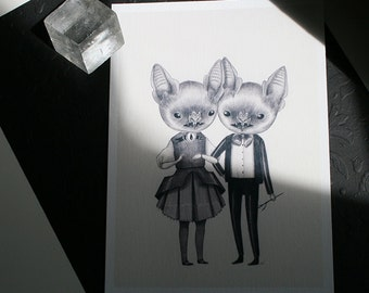 Silver Tongues mini print - archival giclee