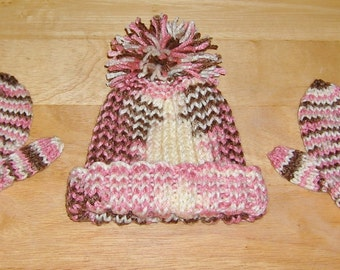 Toddler Hat and Mitten Set