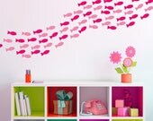 Fish Wall Decals - School Of Fish Decals - Fishies Wall Mural Decal - Under The Sea Wall Decals - Child Decal - Sea Creature Decal - WD1057