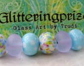 Lampwork Glass Beads Mini Mix Bags Parma Violets