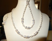 Bridal Party Necklace, Bracelet and Earring Set