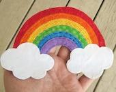 Rainbow Applique. Rainbow Patch. Rainbow Scrapbooking Embellishment. Rainbow. Handmade. Fabric Rainbow