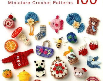 Miniature Crochet Patterns 100 - Japanese Craft Book