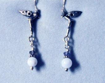 Sterling Silver Tinkerbell Fairy Earrings 814FayEar01