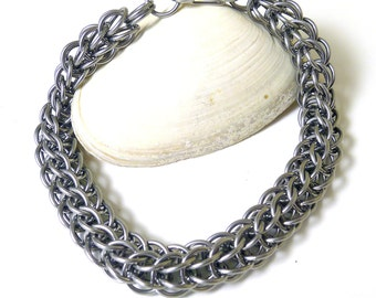 Men's Stainless Steel Full Persian Chainmaille Bracelet