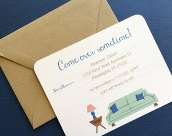 Come Over Sometime- Personalized moving announcement, set of 16