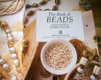 Bead Book 'The Book of Beads'  Janet Coles How-To Design Crafting Guide Book 1990