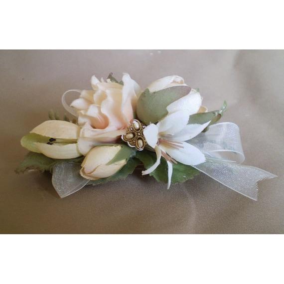 Womens floral hair accessory wedding bridal flower fashion barrette flower