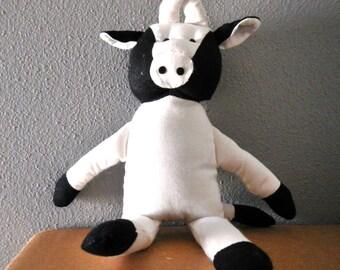 "Darice - 1617-17 - Muslin Cow - black and white - 10"" - 1 pc"