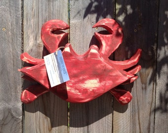 Handmade Wooden Crab Made to Order