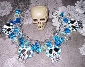Sugar Skull Bracelet Day of The Dead Jewelry Dia De Los Muertos Jewelry Skull Jewelry Day Of the Dead Bracelet Sugar Skull Charm Braclet