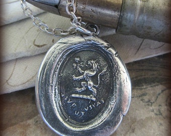 Live and Let Live Wax Seal Pendant  Necklace - you only live once - Seize Life - RP810