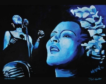 """Lady Sings The Blues, a Billie Holiday tribute - 8""""x10"""" print on beautiful gloss photo paper, with a high quality finish and UV coating."""