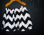 SAMPLE - Children Skirt - Will fit Size 5T up to 9 Yr - Black and White Chevron - by Boutique Mia and More - Ready To Ship