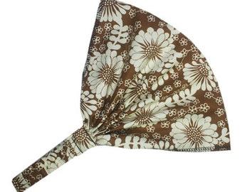 Cotton Headband, Wide Cloth Headband, Wide Cotton Headband, Cotton Head Band, Brown Headband, Brown Head Band, Wide Bandana Headband, Floral
