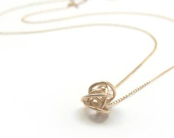 Delicate Chain Scribble Necklace - Recycled Metal