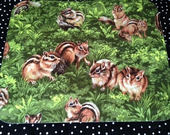 Fabric Computer Mousepad Made from Chipmunk Fabric