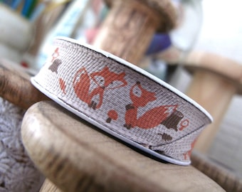 Fox Trim so cute 3metre mini reel 17mm wide on a woodland poly weave