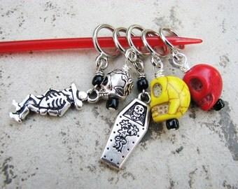 Dia de los Muertos Non-Snag Stitch Markers