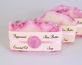Peppermint Soap - Handmade Cold Process Soap, Peppermint Essential Oil Soap, Gift for Him, Gift for Her, Coworker Gift