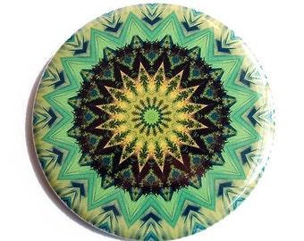 Mandala Pocket  Mirror in Green, Gold and Black - Expansion Mandala