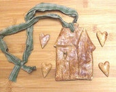 Destash- Primitive Salt Dough House Ornament